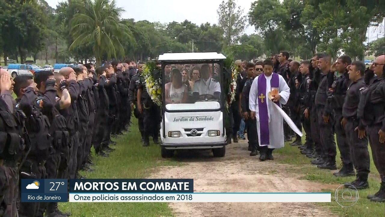 Número de policiais mortos no Rio já chega a 11 em 2018