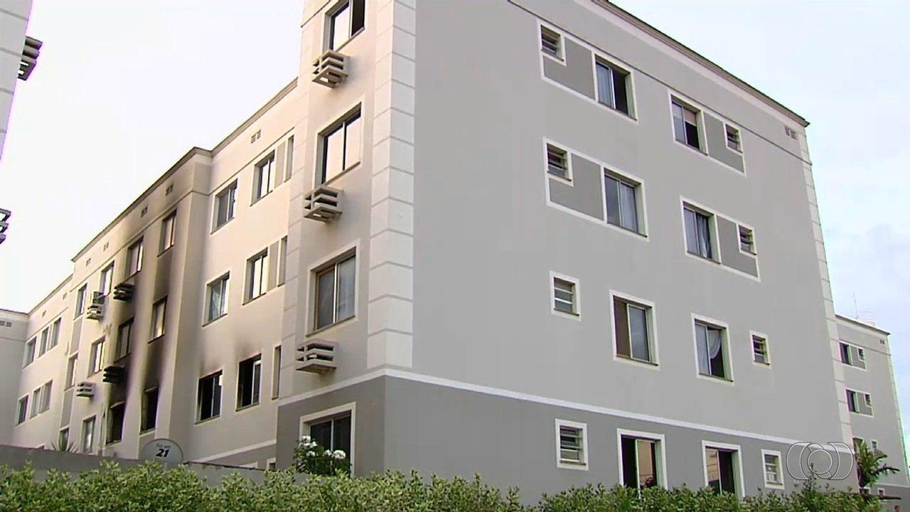 Incêndio destrói apartamento e dono do imóvel é preso suspeito do crime, em Aparecida