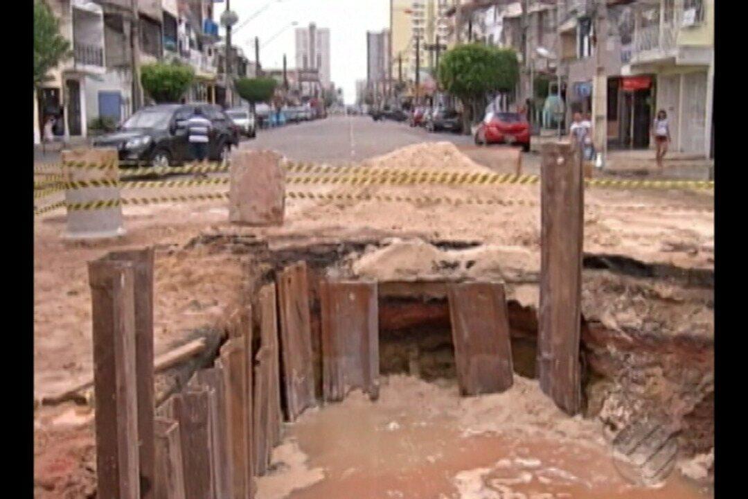 Cinco bairros de Belém ficaram sem água após rompimento de adutora