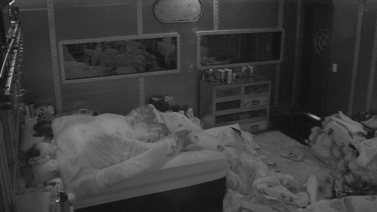 Depois de primeira formação de Paredão, todos dormem no BBB18