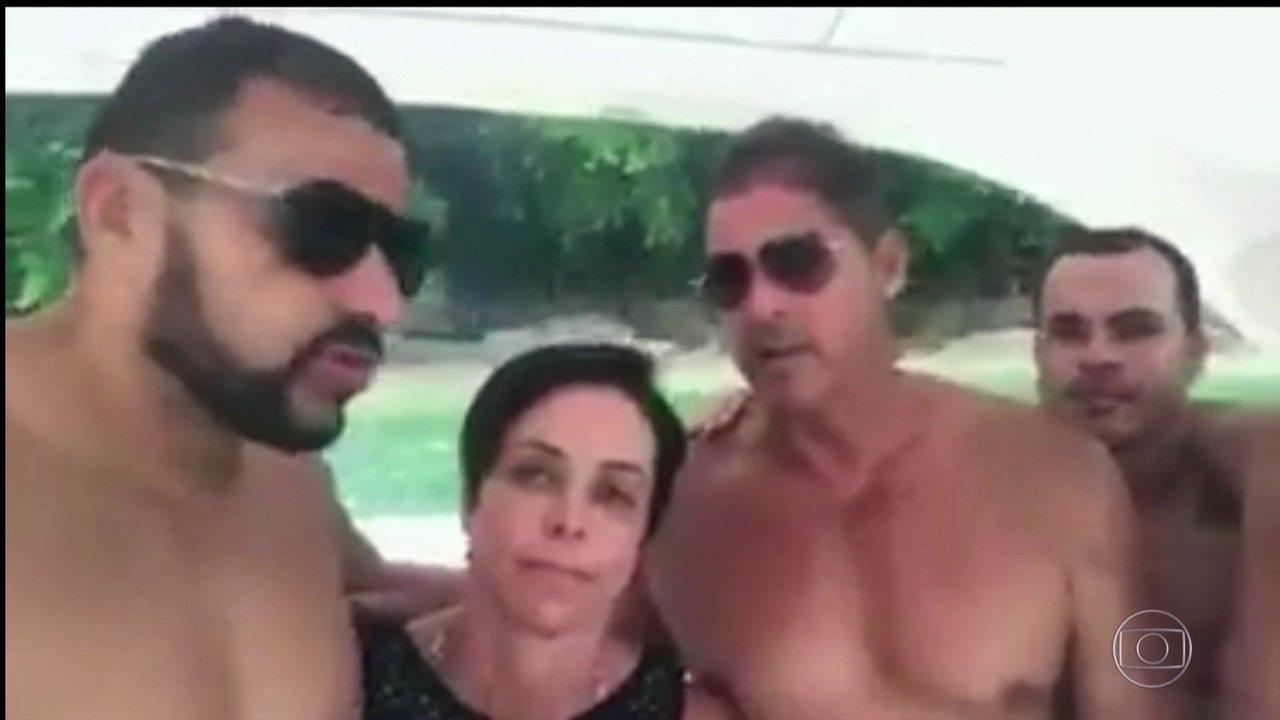 Cristiane Brasil grava vídeo em barco defendendo sua nomeação