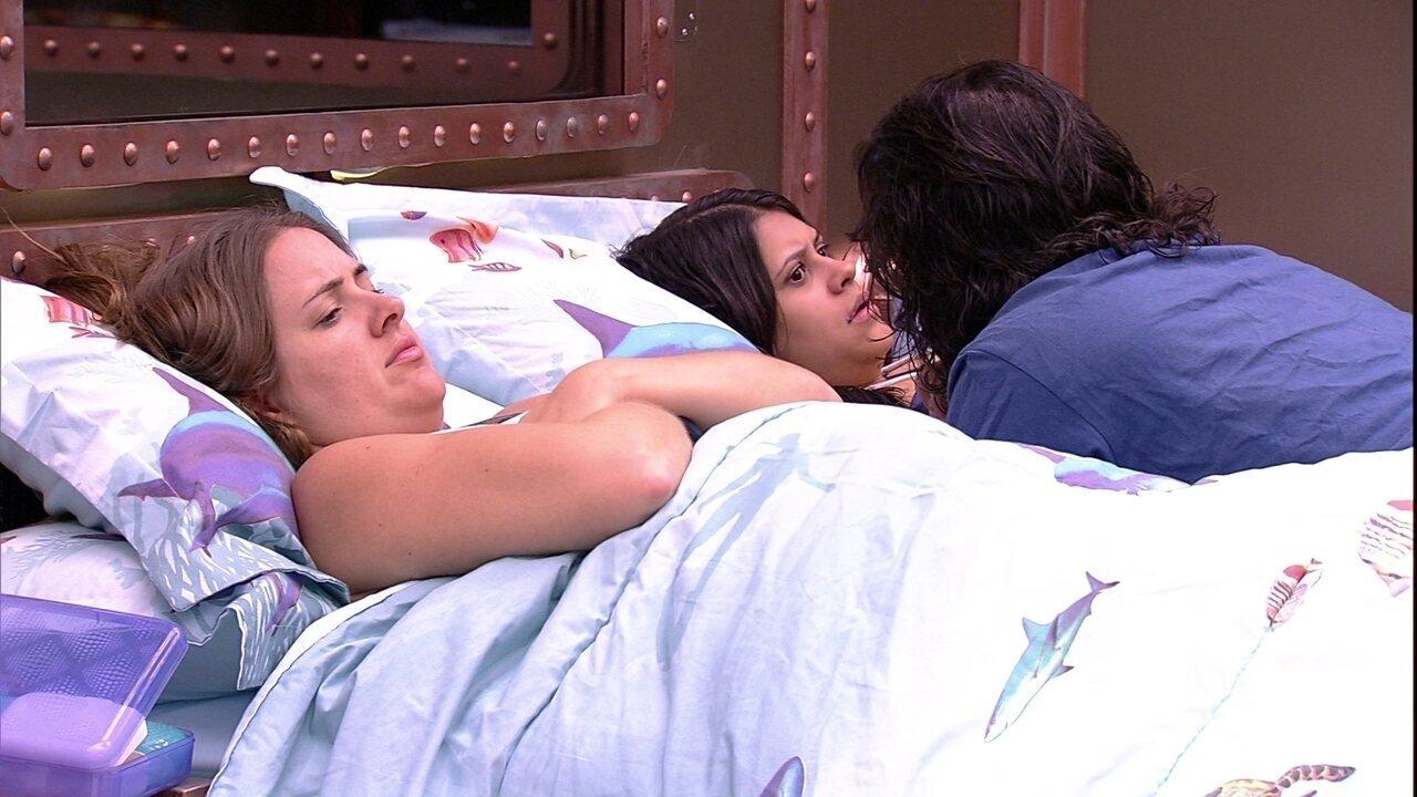 Ana Paula desabafa com Diego sobre o Paredão