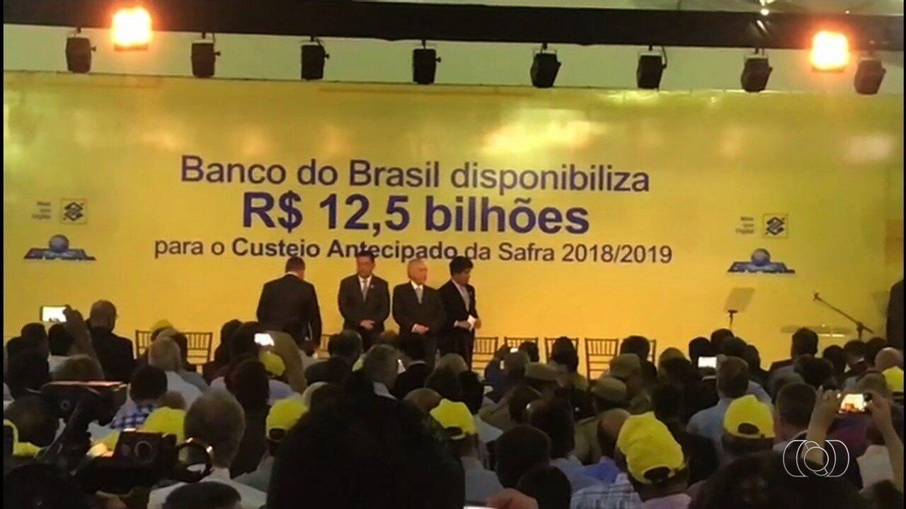 Governo anuncia R$ 12,5 bilhões para custeio antecipado da safra 2018/19