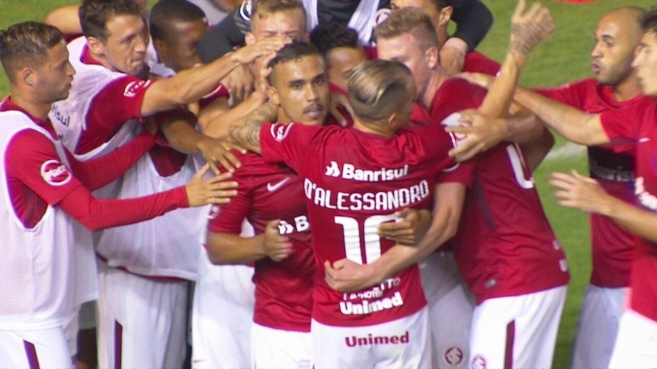 Pottker recebe de D'Alessandro e marca contra o Boavista, pela Copa do Brasil