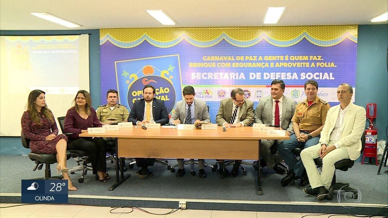 Esquema de segurança do carnaval de Pernambuco terá 27 mil profissionais