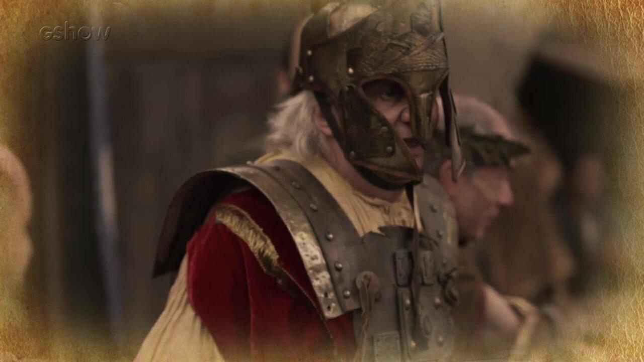 Resumo de 10/02: Rei Augusto se disfarça e atua no teatro de Artena