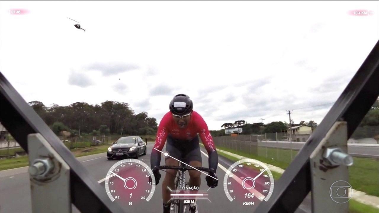 Brasileiro luta pelo título de recordista mundial de velocidade sobre uma bicicleta
