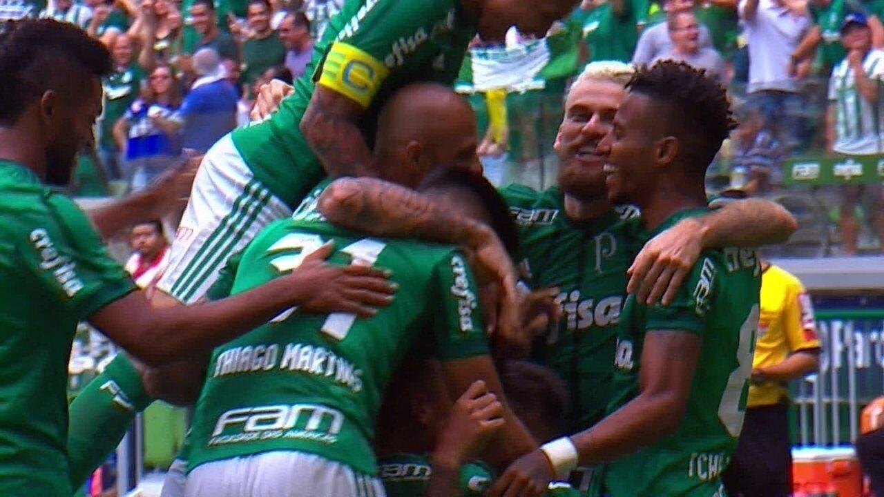 Melhores momentos de Palmeiras 2 x 1 Santos pelo Campeonato Paulista