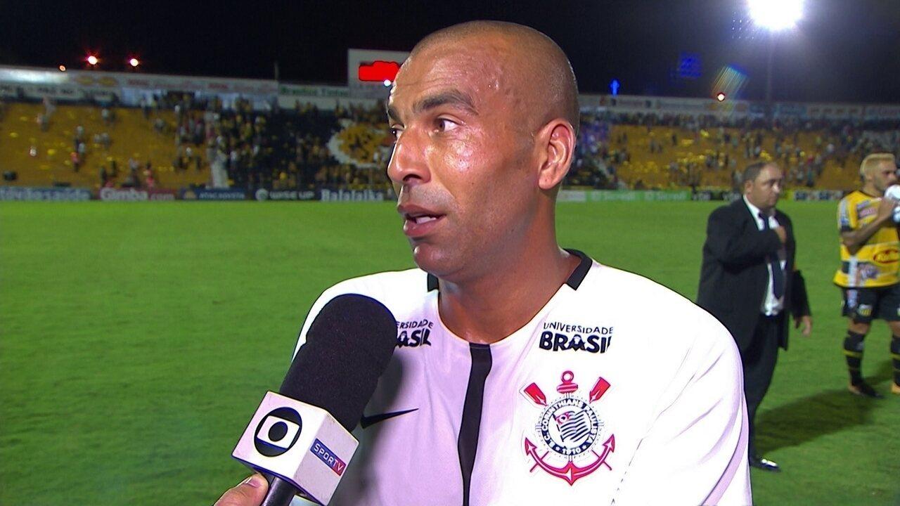 Emerson Sheik comenta retorno ao Corinthians e vitória sobre o Volta Redonda