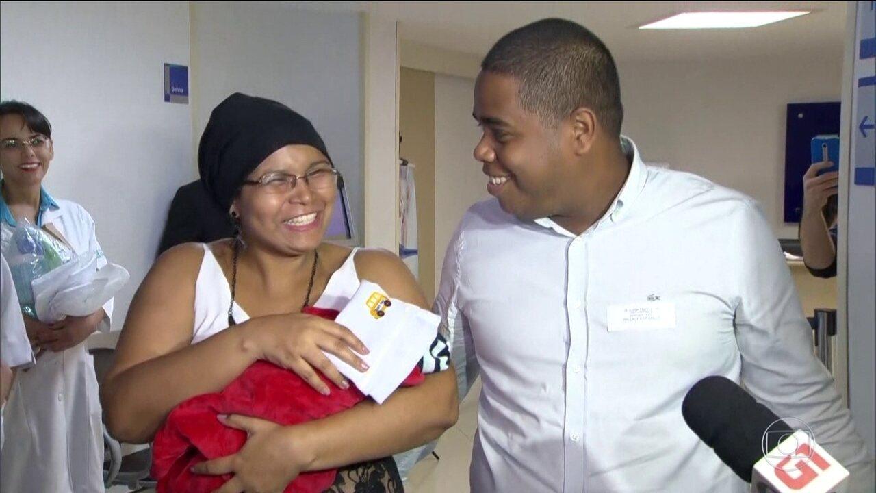 No Rio, bebê que nasceu após mãe ser baleada tem alta sem sequelas