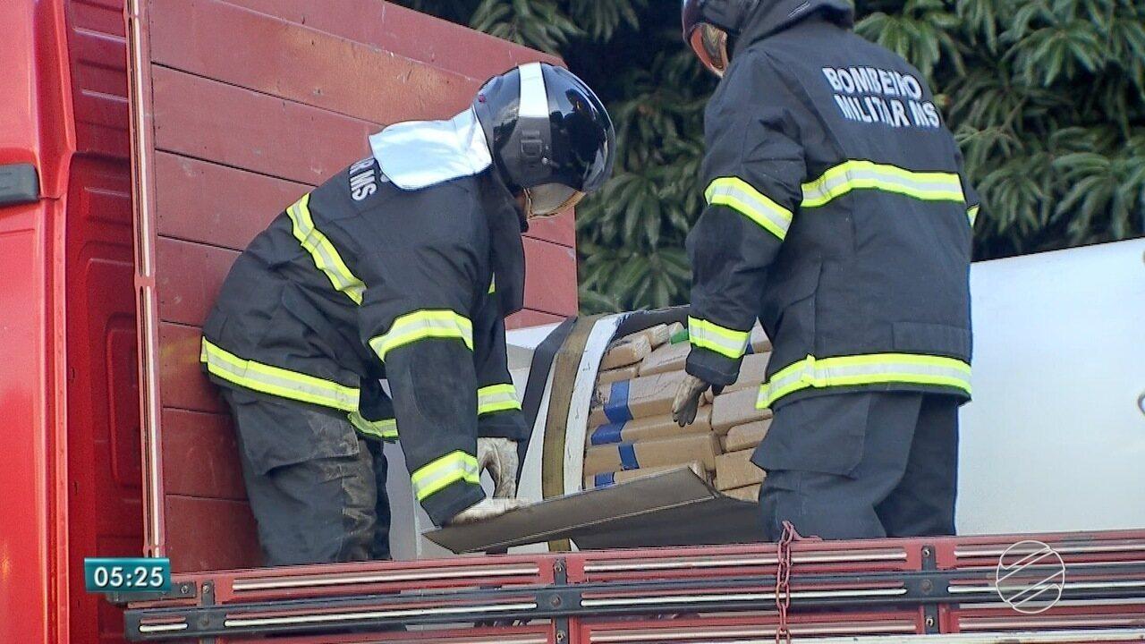 PRF apreende 2,1 toneladas de droga dentro de caixa-d'água em MS