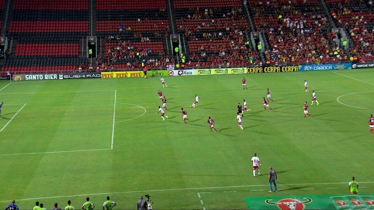 Jogadas de infiltração e velocidade contra o Flamengo em 2018