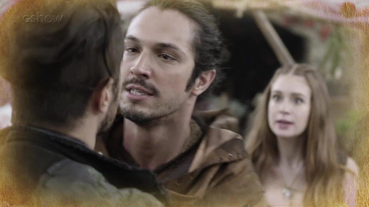 Resumo de 14/02: Afonso parte pra cima de Virgílio e interrompe beijo com Amália