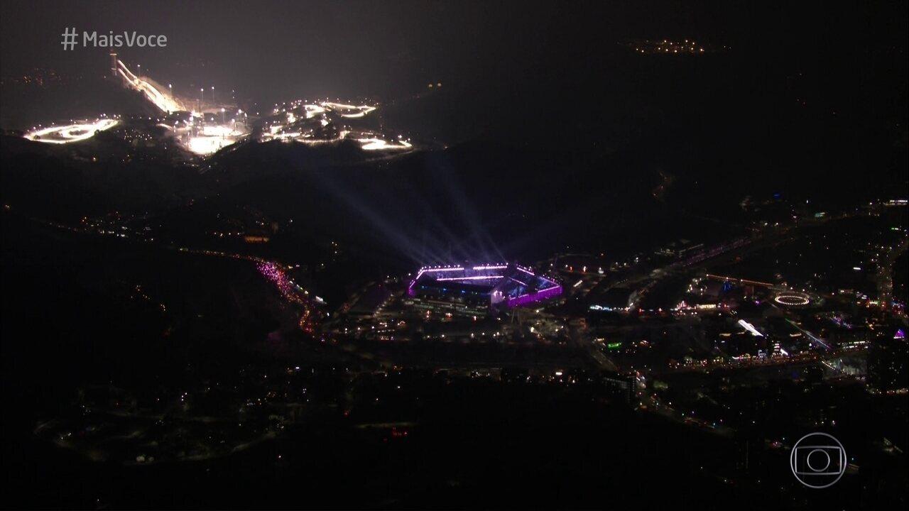 Confira trechos da abertura dos jogos olímpicos de inverno de PyeongChang