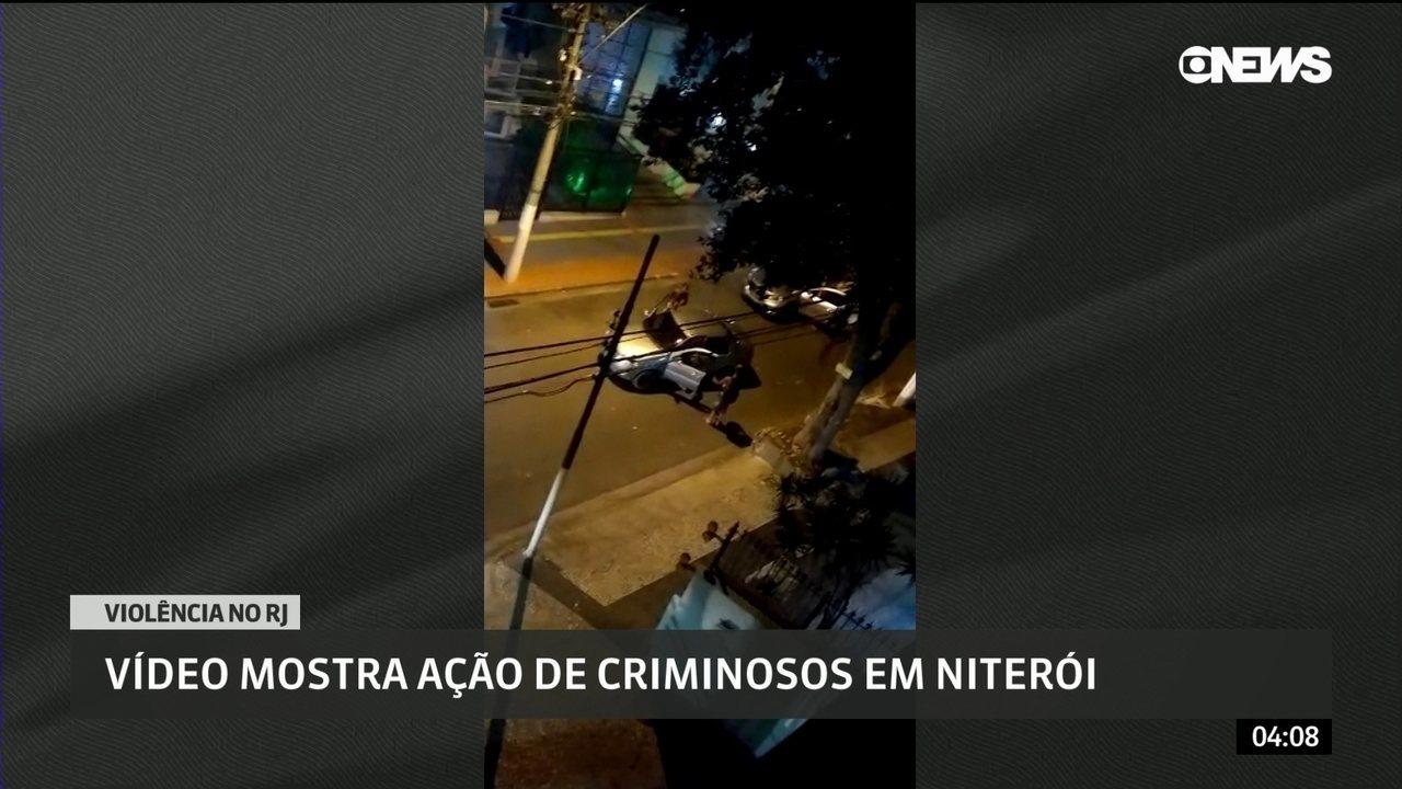 Vídeo mostra ação de criminosos em Niterói