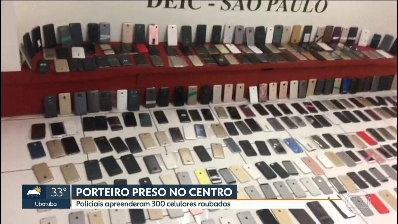 Polícia prende porteiro e moradora de prédio em esquema de roubo de celular