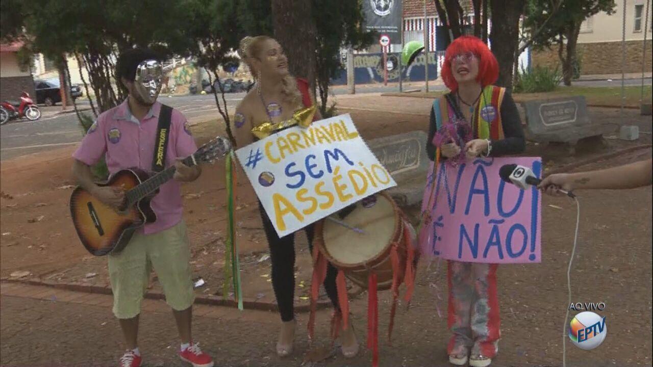 Prefeitura de Araraquara, SP, faz campanha contra assédio no carnaval
