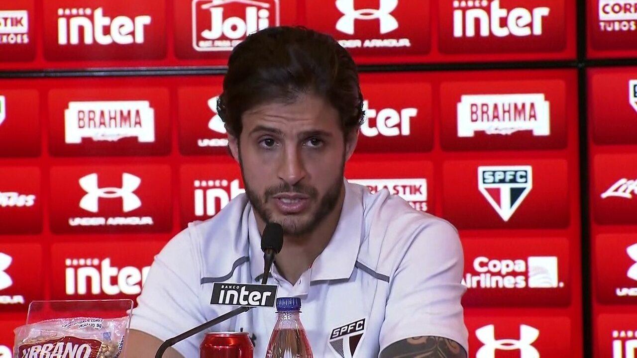 Veja o que Hudson falou depois do treino do São Paulo de segunda-feira