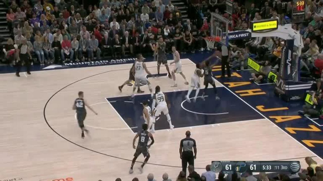 Melhores momentos: Jazz 101 x 99 Spurs pela NBA
