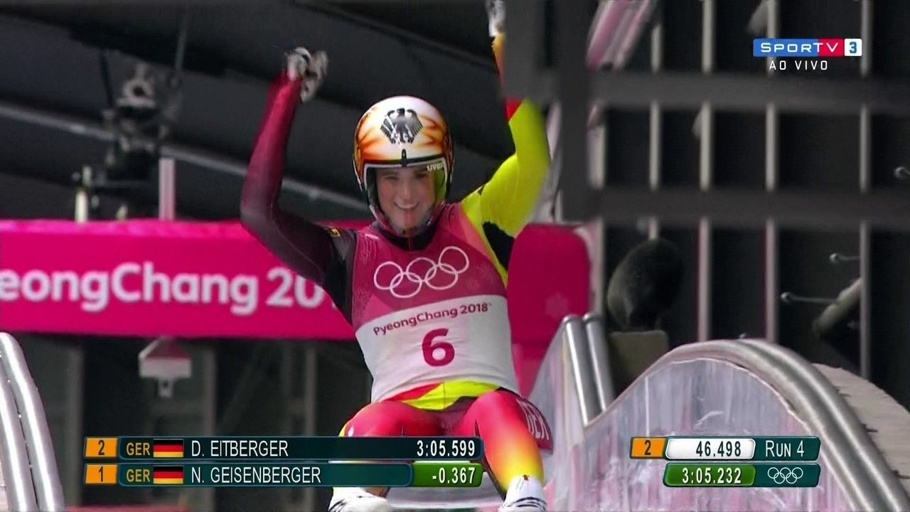 Alemã Natalie Geisenberger faz descida limpa e fica com o ouro no luge