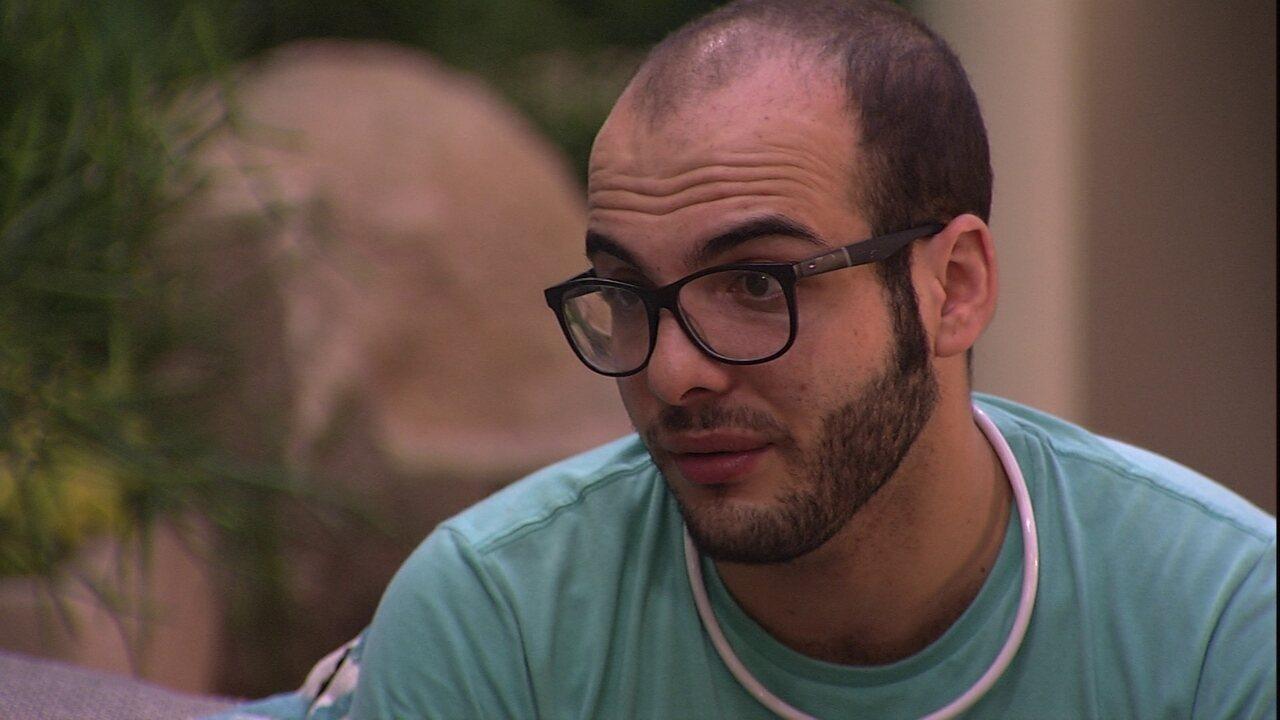 Mahmoud acredita que Wagner tem o hábito de elogiar, mas com Gleici é diferente'
