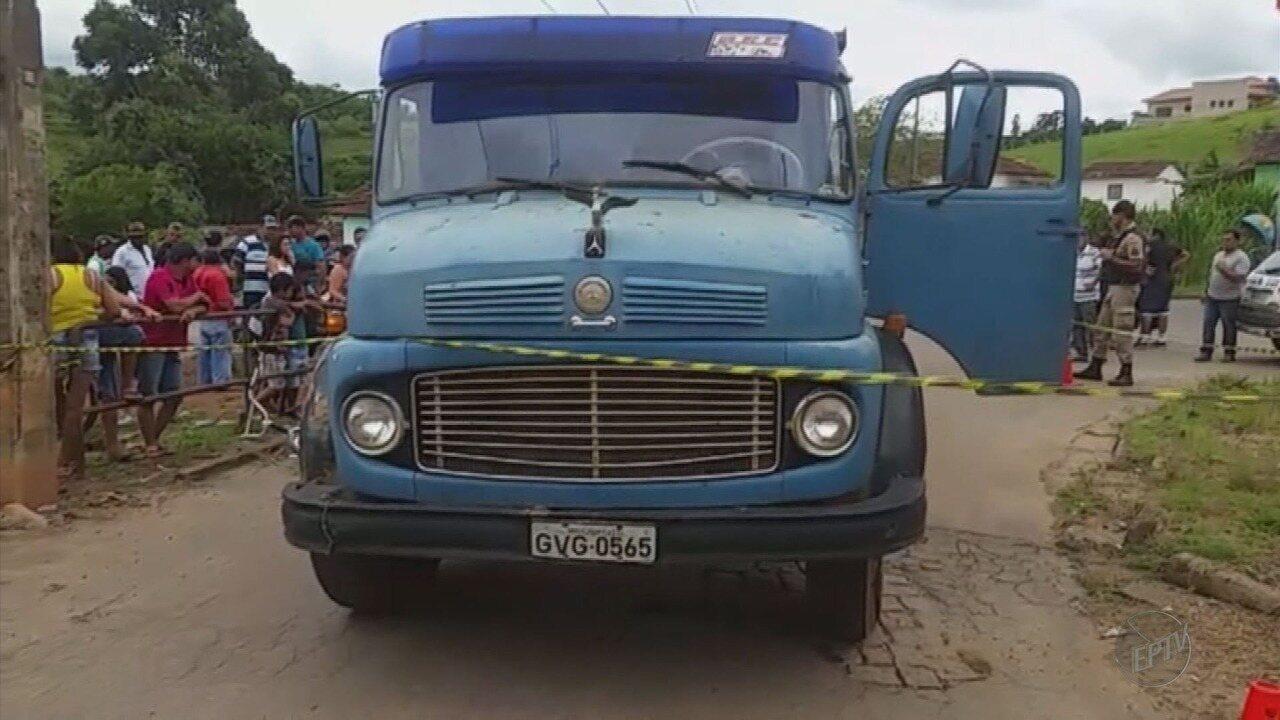 Menino de 5 anos morre após ser atropelado por caminhão no Centro de Campestre (MG)