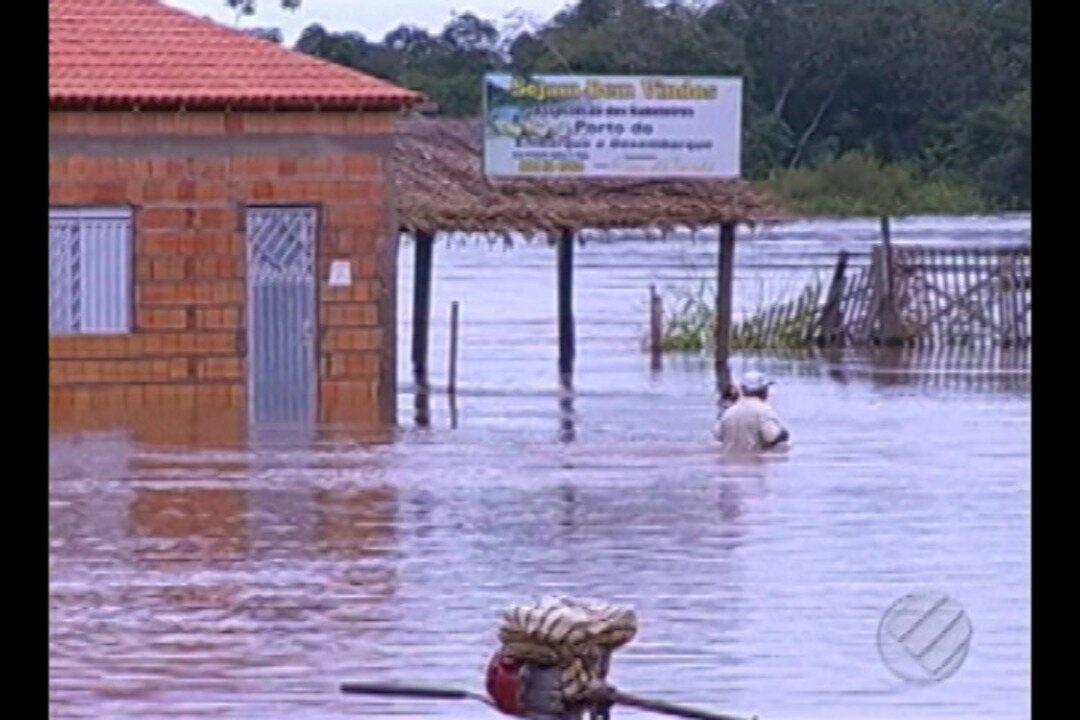 Em Marabá, prefeitura decreta situação de emergência com cheia de rios