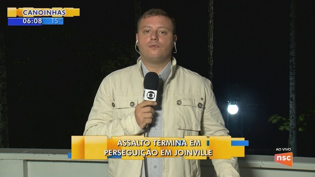 Assalto termina em perseguição em Joinville