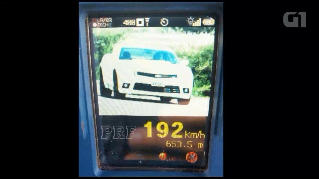 Vídeo mostra carro a 192 km/h em trecho da BR-163 em Terra Roxa