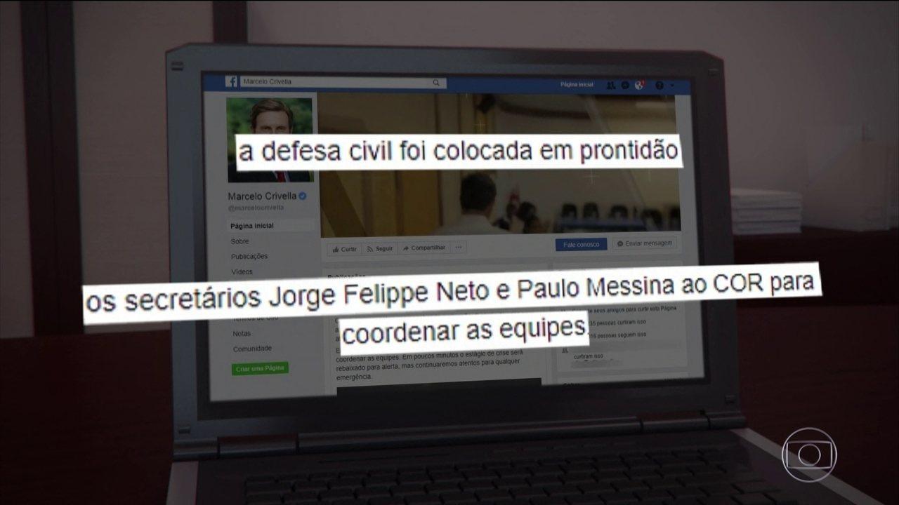 Prefeito do Rio segue em viagem internacional mesmo após temporal