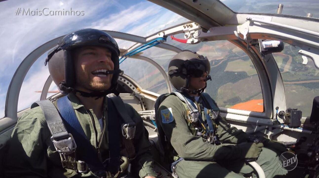 Rafael Ristow visita a AFA (Academia da Força Aérea)