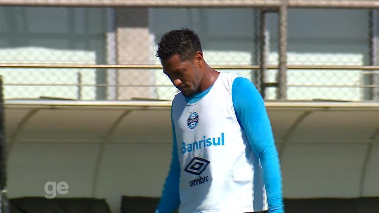 f93432878a Hernane Brocador faz primeiro treino pelo Grêmio mesmo sem ser anunciado  oficialmente