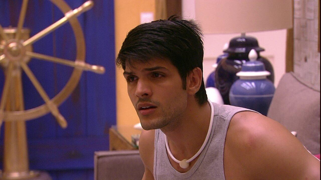 Lucas afirma que estará no próximo Paredão com Mahmoud
