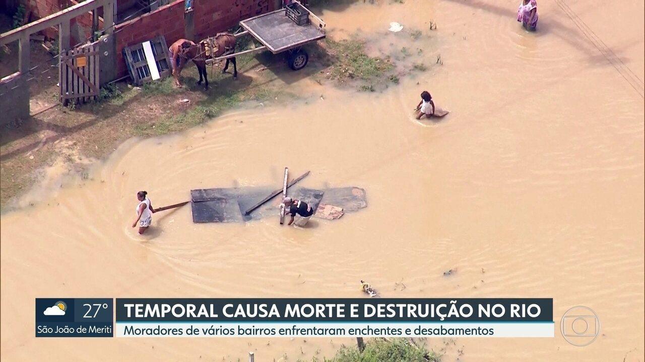 Temporal causa morte e destruição no Rio