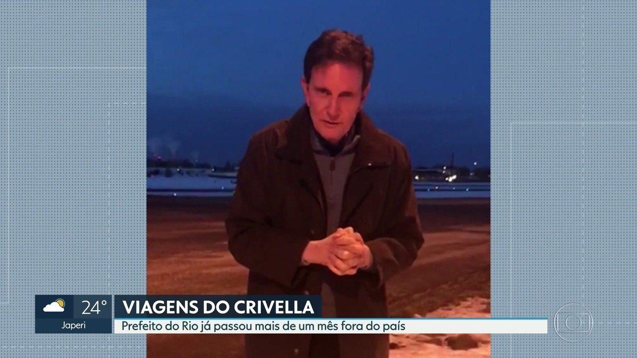 Crivella passou mais de um mês fora do país desde que assumiu a Prefeitura do Rio