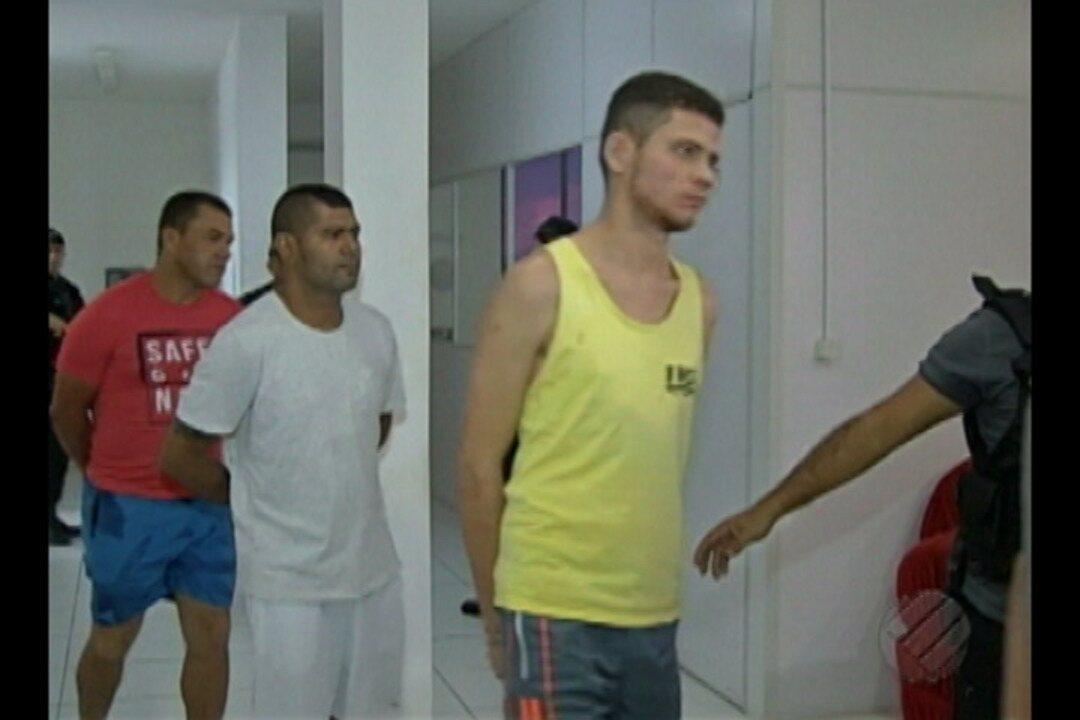Polícia apresenta em Belém parte de quadrilha especializada em roubo a banco