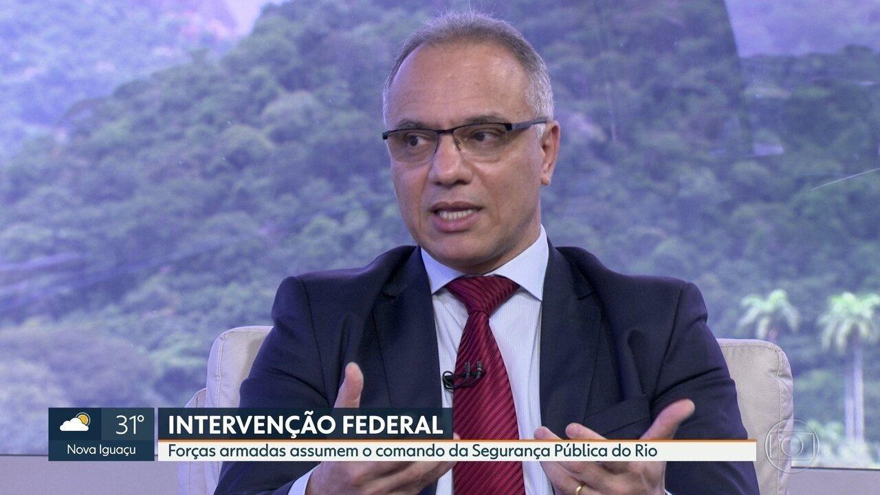 Secretário de Segurança Pública do Rio comenta sobre intervenção federal
