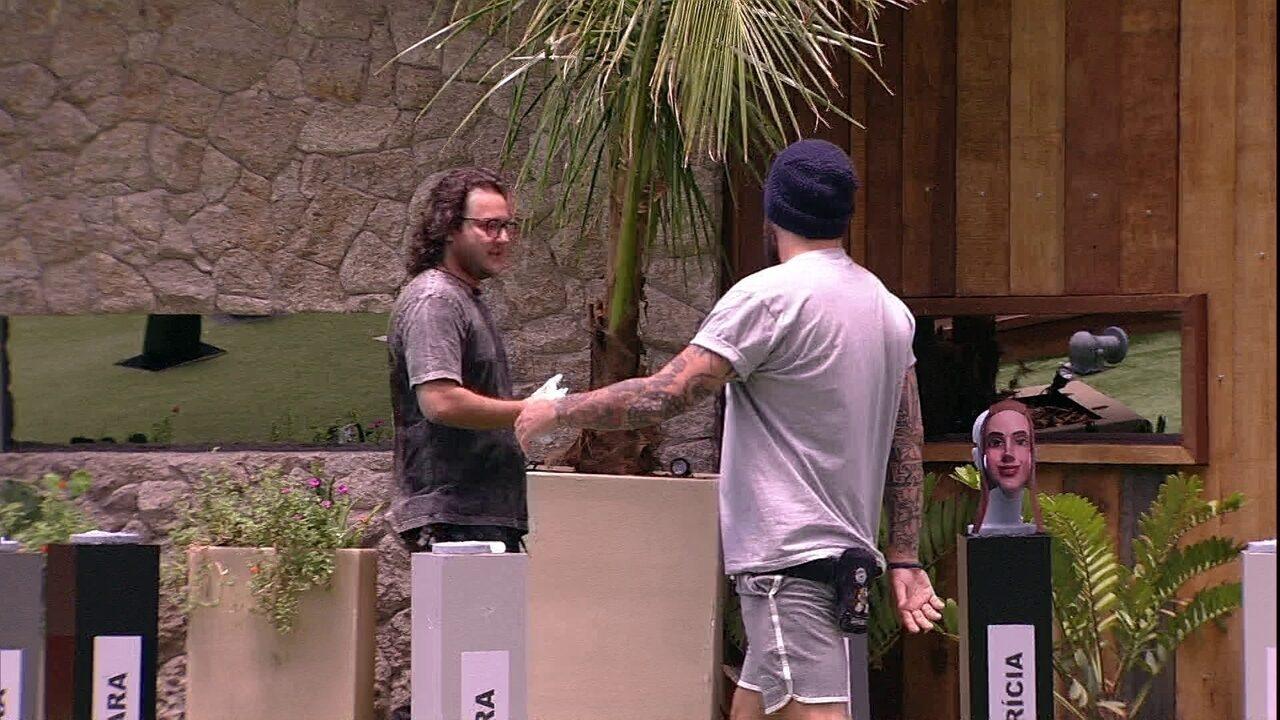 Diego é eliminado da Prova do Anjo Tapa na Cara