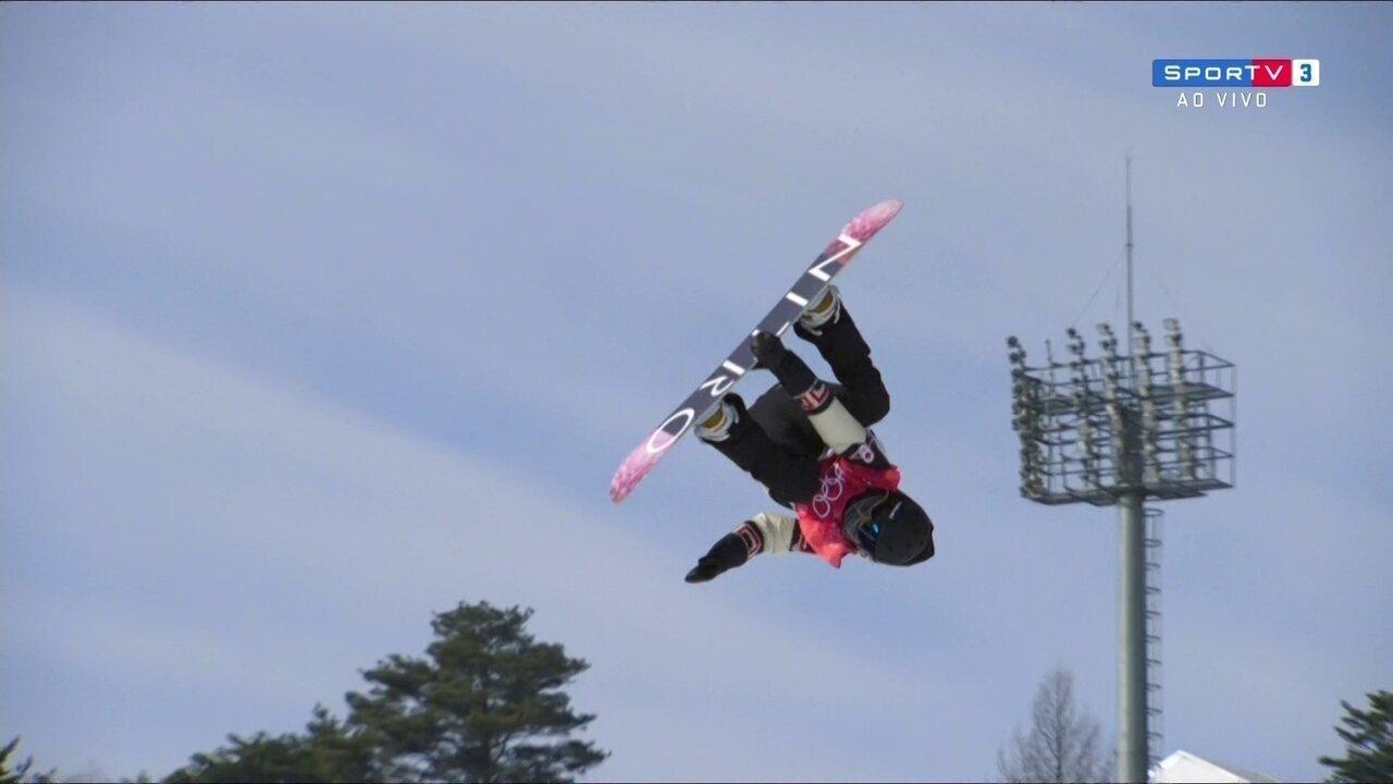 Canadense faz a melhor manobra e conquista a maior no Snowboard na primeira descida, 90.25