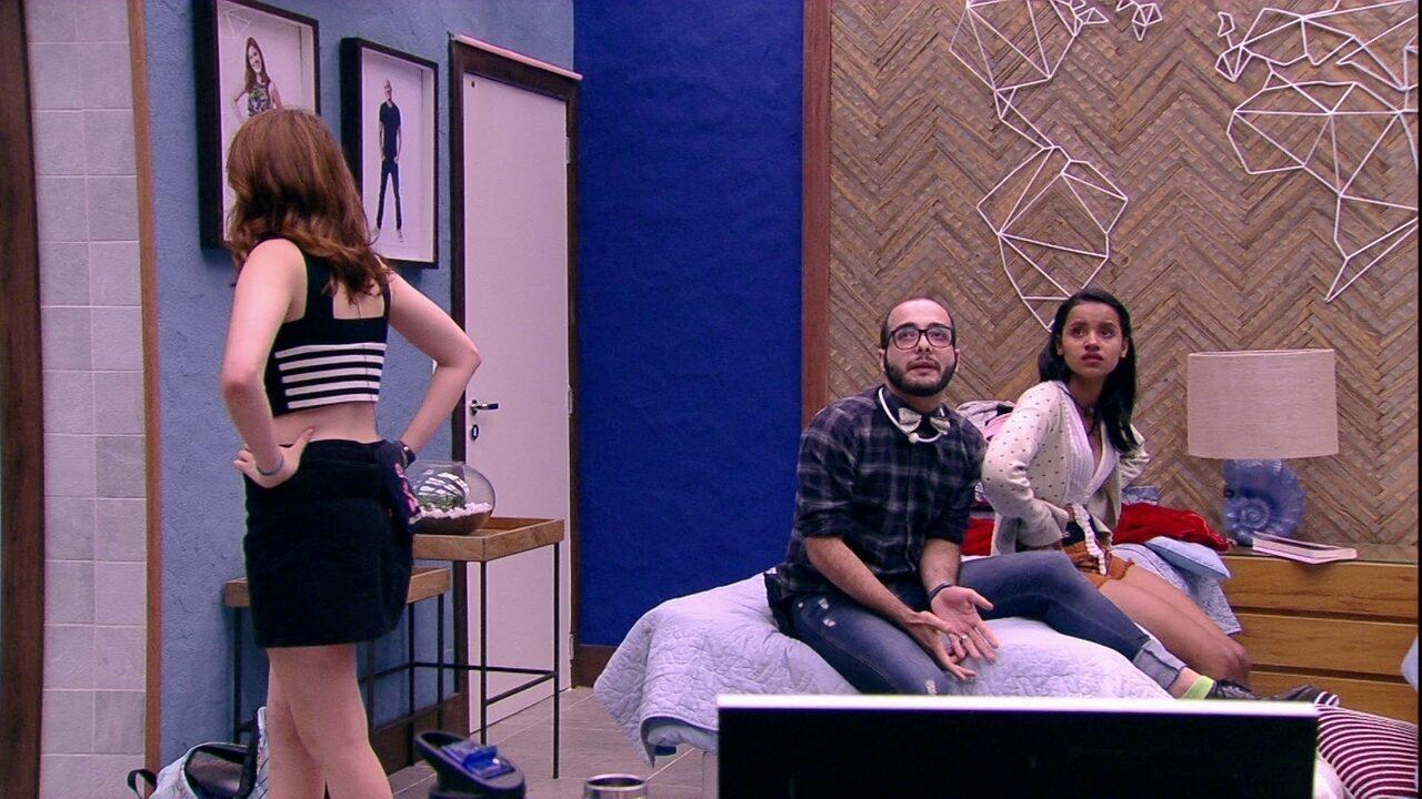 BBB 18: Gleici, Mahmoud e Nayara se enfrentam em Paredão Triplo