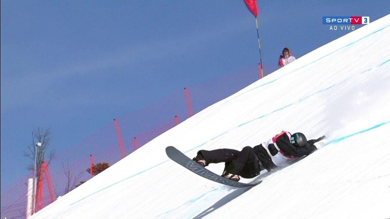 Confira os tombos no Snowboard Big Air Feminino