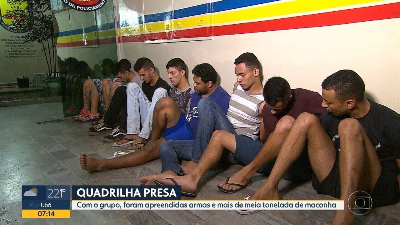 grupo 233 preso armas e mais de meia tonelada de droga