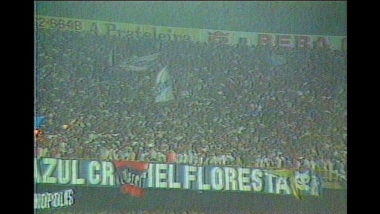 Em 1992, Cruzeiro goleia no primeiro jogo e é campeão diante do Racing na Argentina