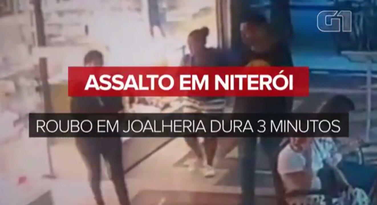 47501524193 Assalto em Niterói  roubo em joalheria dura 3 minutos