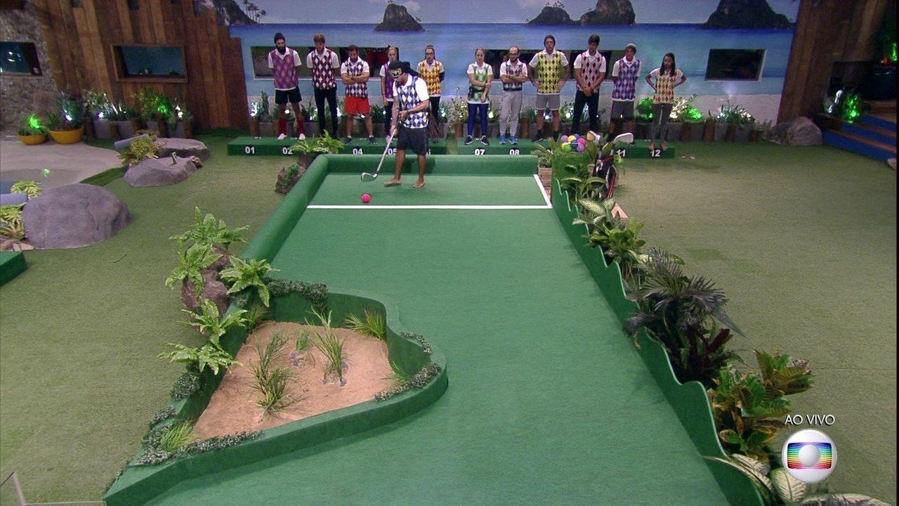 Grupo A começa a Prova do Líder Golfe Inclinado