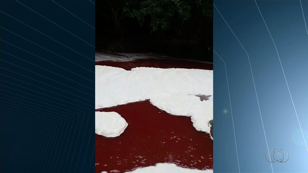 Sangue caiu na água do Rio Vermelho