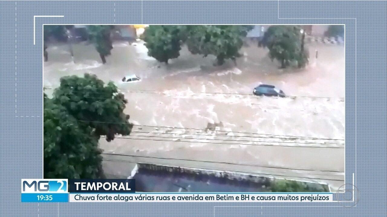 Temporal alaga ruas e avenidas de Belo Horizonte e Região Metropolitana