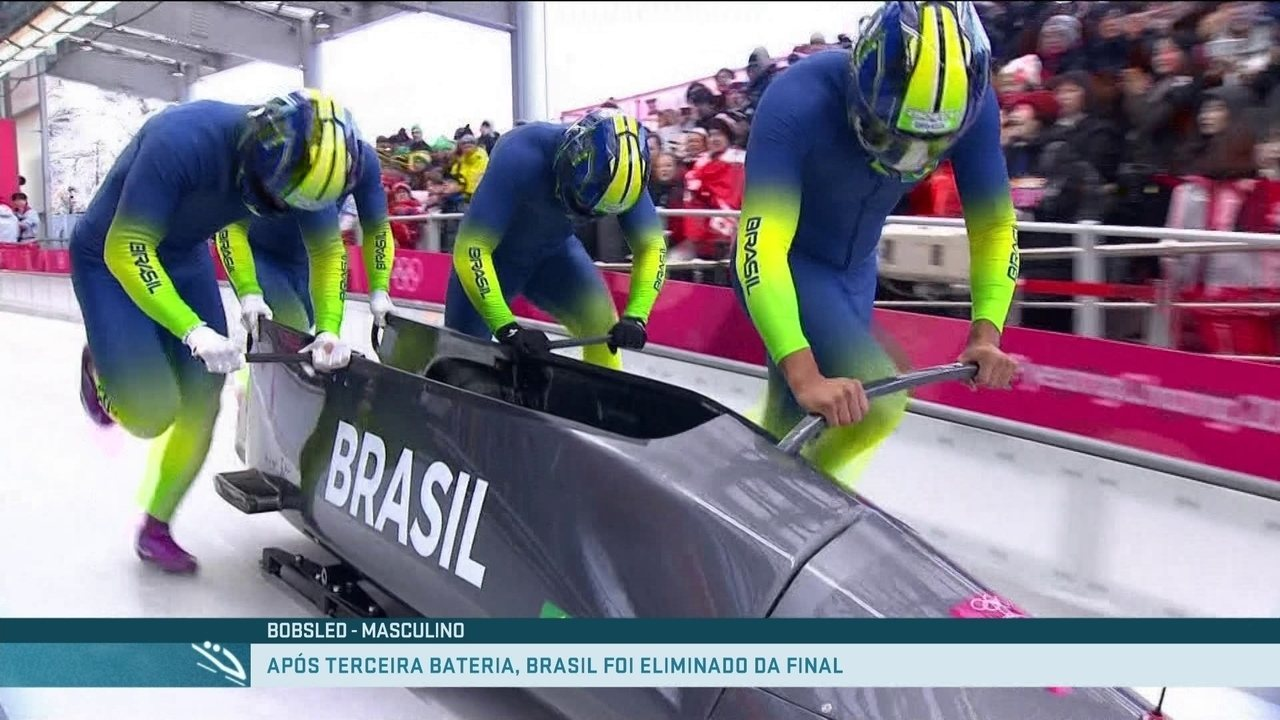 Brasil termina 3ª bateria do Bobsled em 23º lugar e fica fora da 4ª e última bateria