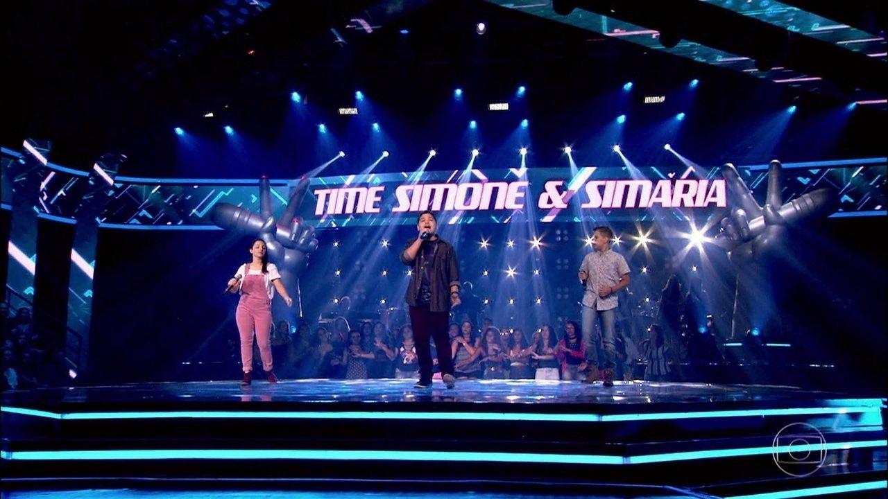 Guga Lima, Luan Gabriel e Nati Limma cantam 'Todo Azul do Mar'