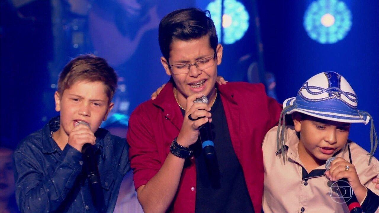 Arthur Secco, Gustavo Dezani e Kayro Oliveira cantam 'Tristeza do Jeca'